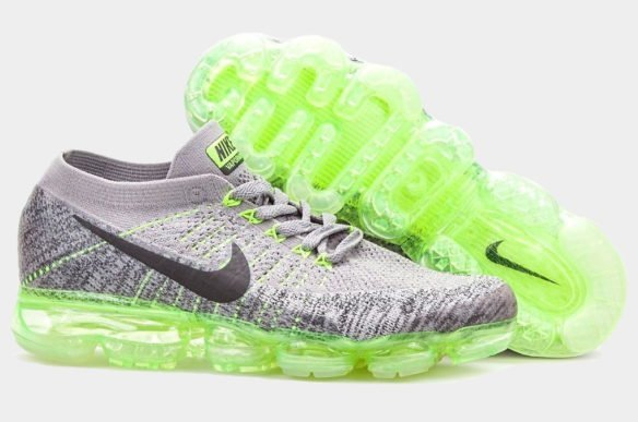 Фото Nike Air VaporMax Flyknit серо-зеленые - 1