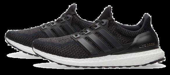 Фото Adidas Ultra Boost 3.0 Черные с Белым - 1