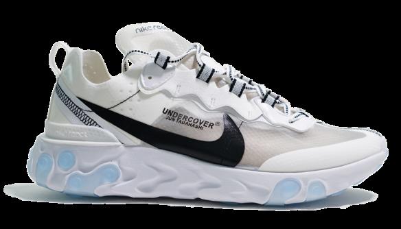 Фото Undercover x Nike react element 87 белые с черным - 3